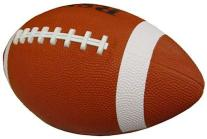 Childrens Brown Rubber Football