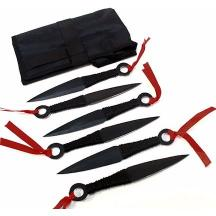 6 Kunai set of 6 pcs Black Knives